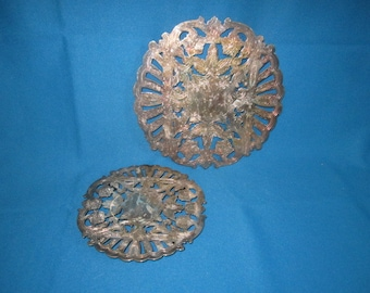 Vintage Beautiful Ornate Wallace Silverplate Lot of 2 Trivets