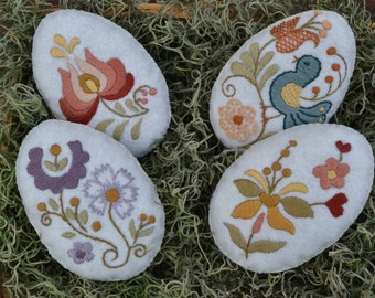 Easter Egg Bowl Fillers /Hand Embroidered Easter decor