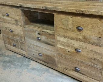 YOUR Reclaimed Barn Wood Entertainment Center/Dresser FREE SHIPPING -RBWECD1400F