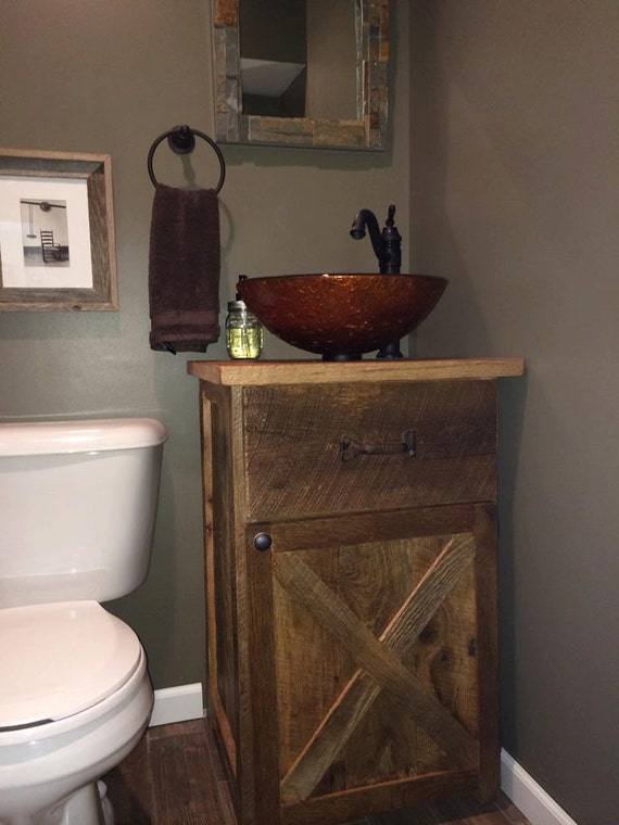 Your Custom Rustic Barn Wood 24 Inch Vanity Or Cabinet Barn