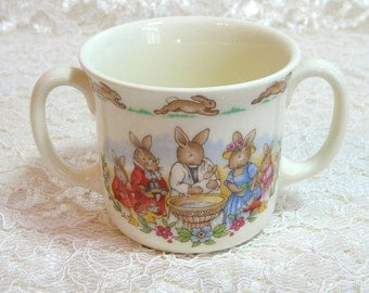 Royal Doulton Bunnykins Two Handle Christening Mug