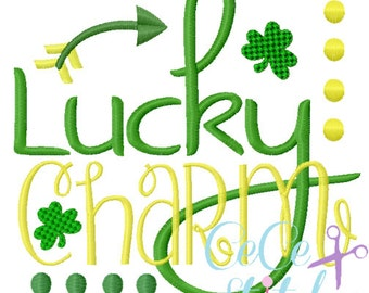 Lucky Charm Embroidery Applique Design