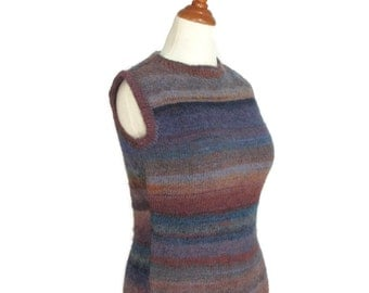 Maxi Dress Hand Knit Shapely Striped