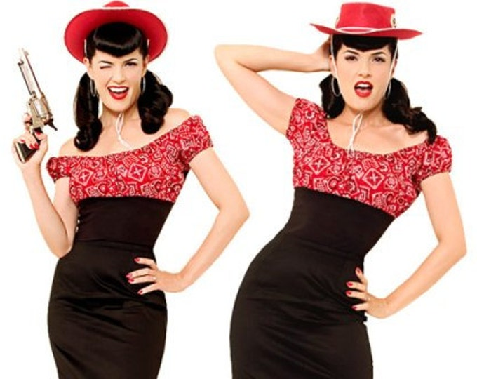 Pin Up Top, Gingham Top, Rockabilly Top, Daisy Duke Top, Western Top, Sexy Western, Pin Up Blouse, Summer Blouse, Off the Shoulder Top