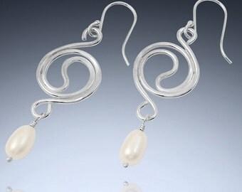 Yin Yang Earrings in Sterling Silver, Copper  or Gold -Filled