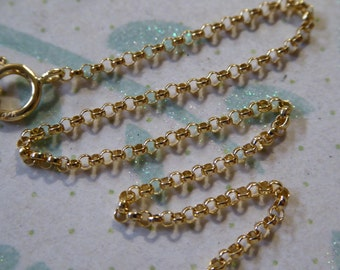 """Sale .. 16 18 20 22 24 30 32 36"""", Gold ROLO Chain, 1.5 mm, 14k Gold Filled Chain, g7.16 g7.18  g7.20 g7.22 g7.24 g7.30 g7.32 g7.36 tpc solo"""