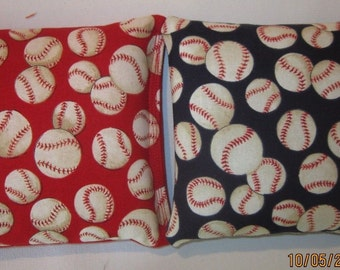 Baseball Cornhole Bags- FREE SHIPPING - Set of 8 Baseball Cornhole or Baggo Bean Bag Toss