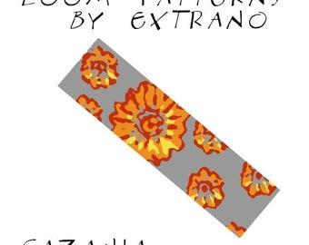 Loom bracelet pattern - GAZANIA - 4 colors only - Instant download