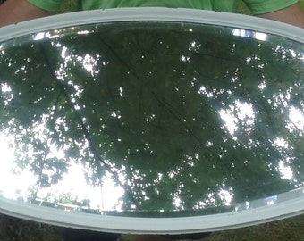 """Large Oval Vintage Mirror 42"""" x 19.5"""" Local Pick Up Only"""