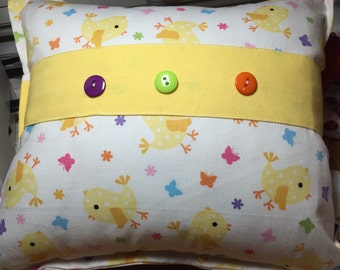 Decorative pillow- spring chickie pattern
