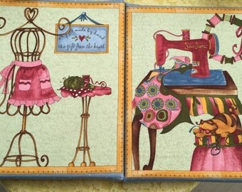 Sew much fun! Sewing room prints in csmvas.
