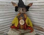 OOAK DOLL Primitive, Folk art Halloween Bunny Rabbit
