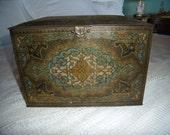 Antique Deco Tin Storage Biscuit Box Heinz 57