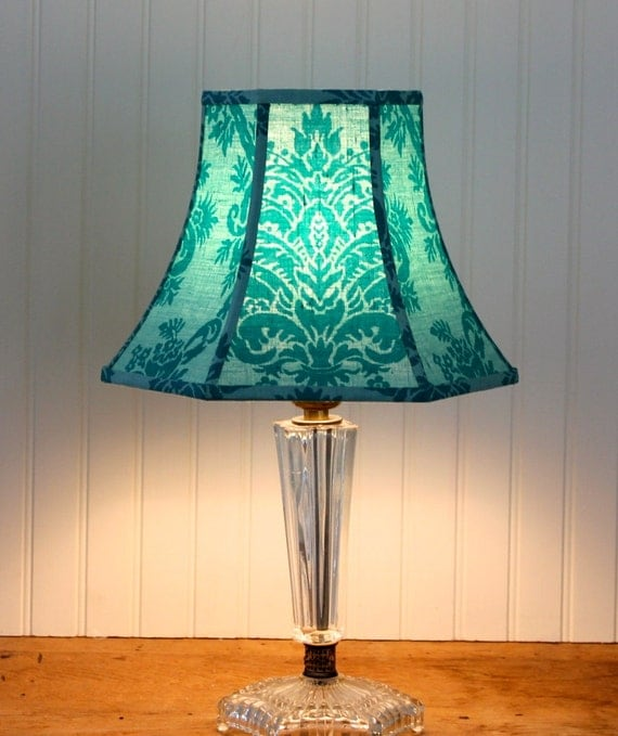 Small Teal Lamp Shade