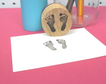 Baby Footprint Stamp - Realistic