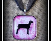 Show Sheep Glass Dome Image Pendant With Ribbon Necklace