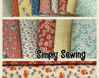 Summer Days 1930s Reproduction Fat Quarters