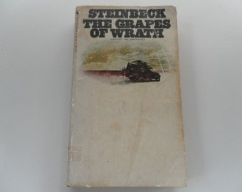 Steinbeck's The Grapes of Wrath vintage paperback 1972