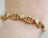 Vintage Avon goldmedieval french style chain cocktail bracelet