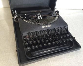Antique Remette Typewriter with Case