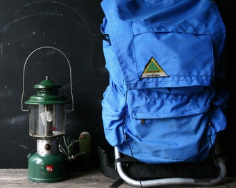 Stansport Sonora Hikers Backpack on Aluminum Frame In Blue Vintage From Nowvintage on Etsy