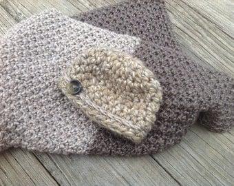 Crochet Newborn Blankey and Hat set