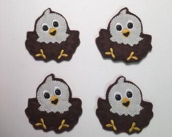 Baby Eagle USA Patriotic Bird Embroidered Felt Applique
