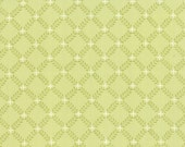 SALE Windermere from Brenda Riddle for Moda Fern Lattice in clover 1 yard   YES!! Continuous fabric cuts and combined shipping