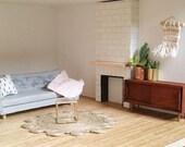 Circular jute rug for dollshouse /dollhouse rug/1:12 scale rug/modern miniature rug
