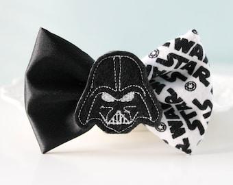 Darth Vader Hair Bow, Star Wars Hair Bow, Black And White Hair Clip, Darth Vader Bow, Classic Hair Bow, Black Friday Sale