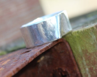 "Sterling Silver Men's Ring Band Item #100109 - ""Bent"""