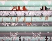 Hello Bear, Bundle,Mint,Gray, Grey,Soft,Blue, Bonnie Christine, Art Gallery Fabrics,Modern, Rustic,In Custom Cuts, FREE SHIPPING to US