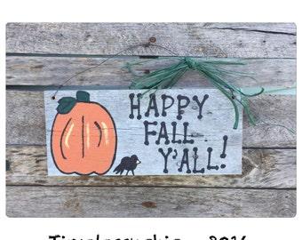 Fall Decorations - Pumpkin - Fall Decor - Halloween Decor - Rustic Decor - Sign -Autumn - Thanksgiving - Farmhouse Decor