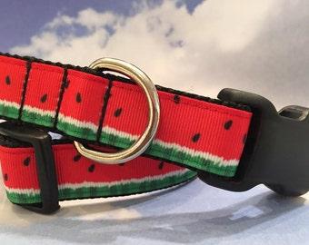 Watermelon Collar, In XS, S, M, L, XL, Summer Dog Collar - Style 2