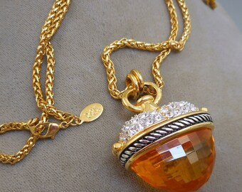 Joan Rivers Heart Pendant Necklace