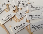60th Birthday Cupcake Toppers, Food Pick
