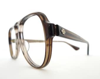Big NOS Titmus Z87 Aviator Frame Marble Grey Brown Eyeglasses Sunglasses Hip Hop Sunnies 70s 80s Pilot Driver Shooters Designer Disco Nerd