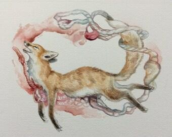 Fox heartbreak print