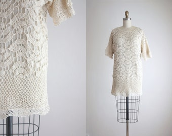 silk knit tunic