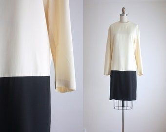 minimalist colorblock dress