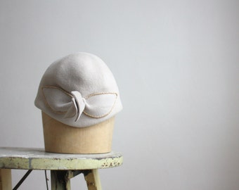 1950s dove grey headpiece