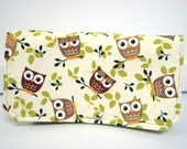 "40% Off 2"" Size Coupon Organizer Coupon Wallet Coupon Holder Budget Organizer Holder-Attaches to Your Shopping Cart -Hoot Owls - Olive Green"