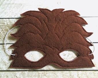 Children's Chewbacca Star Wars  Wookie  Felt Mask