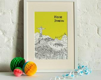 Rio de Janeiro Screen Print