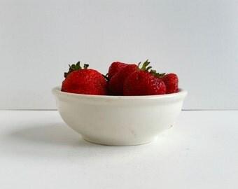 Small White Bowl . Vintage Carr China Dish . Farmhouse Kitchen .
