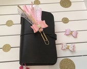 Ribbon and lace planner clip