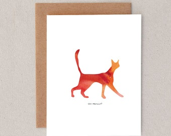 oh really // cat // kitten // pet // rainbow // greeting card // skel // skel design // skel & co
