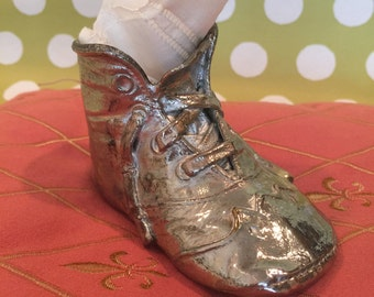 Baby Shoe Silver