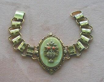 Vintage Victorian Revival Book Chain Bracelet