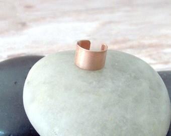 Minimalist Ear Cuff - Simple Ear Cuff - Nonpierced Ear Cuff - Boho Ear Cuff - Copper Ear Cuff - Shiny Copper Ear Cuff - Rocker Chic Ear Cuff